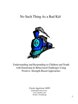 No Such Thing As a Bad Kid