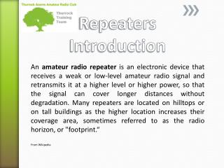 Repeaters Introduction
