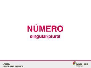 NÚMERO singular/plural