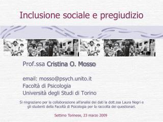 Inclusione sociale e pregiudizio