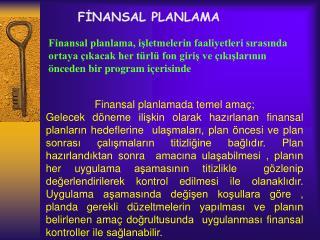 FINANSAL PLANLAMA
