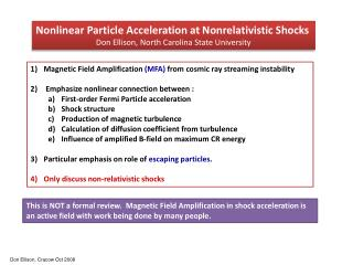 Nonlinear Particle Acceleration at  Nonrelativistic  Shocks