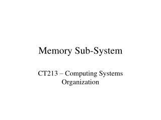 Memory Sub-System