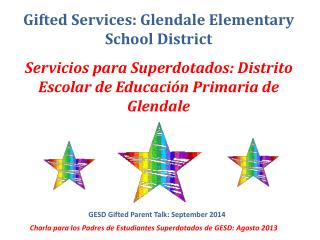Gifted Services: Glendale Elementary School District