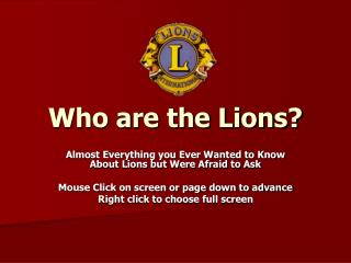 Who are the Lions
