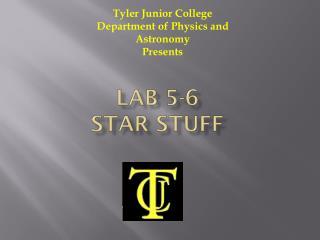 Lab 5-6  Star Stuff
