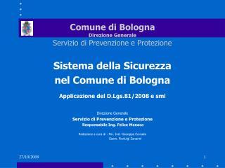Comune di Bologna Direzione Generale Servizio di Prevenzione e Protezione