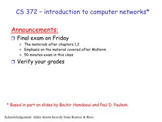 CS 372 – introduction to computer networks*