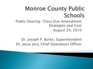 Monroe County Public Schools
