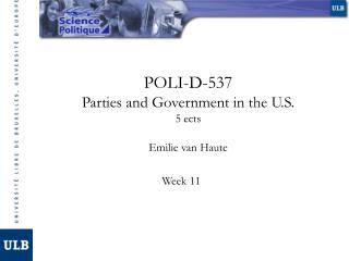 POLI-D-537 Parties and Government in the U.S. 5 ects