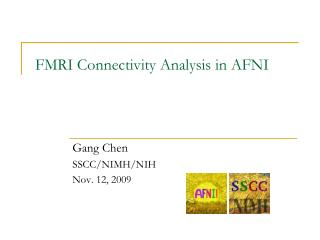 FMRI Connectivity Analysis in AFNI