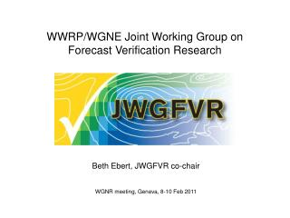 WWRP/WGNE Joint Working Group on Forecast Verification Research