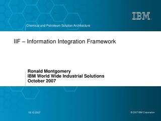 IIF � Information Integration Framework