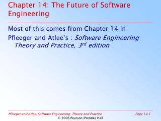 Chapter 14: The Future of Software Engineering