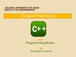 Islamic University of Gaza  Faculty of Engineering