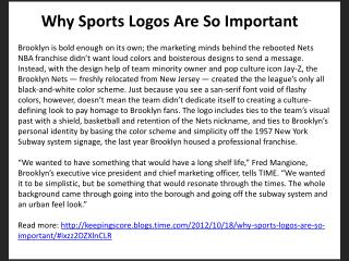 Why Sports Logos Are So Important