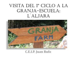 Visita del 1º Ciclo a la Granja-Escuela:  L´Aljara