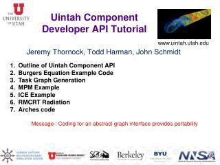 Uintah Component Developer API Tutorial