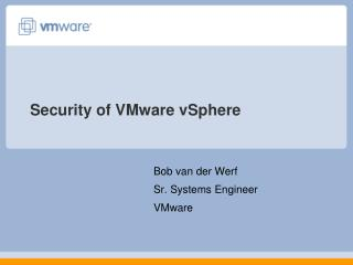 Security of VMware vSphere