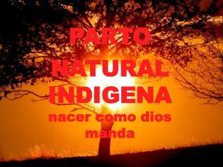 PARTO NATURAL INDIGENA  nacer como dios manda