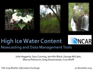 High Ice Water Content Nowcasting  and Data Management Tools