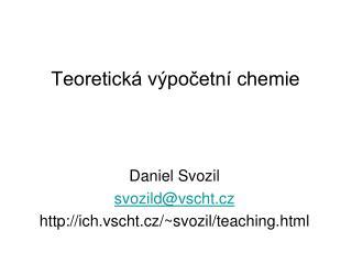 Teoretická výpočetní chemie