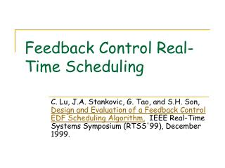 Feedback Control Real-Time Scheduling