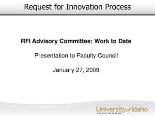 Request for Innovation Process