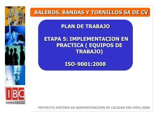 BALEROS, BANDAS Y TORNILLOS SA DE CV