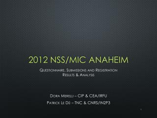2012 NSS/MIC Anaheim