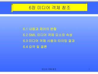 6 장 미디어 객체 참조