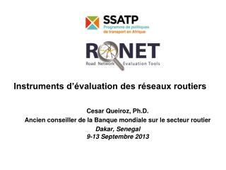 Instruments d'évaluation des réseaux routiers