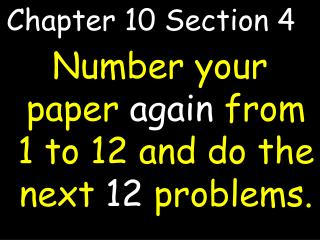 Chapter 10 Section 4 4