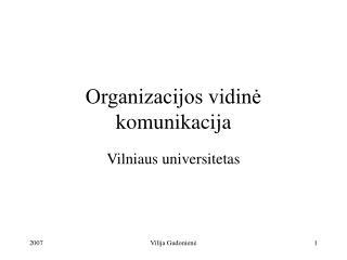 Organizacijos vidinė komunikacija