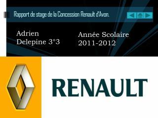 Rapport de stage de la Concession Renault d'Avon.