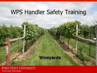 WPS Handler Safety Training