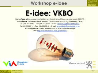 E-idee: VKBO