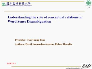 Understanding the role of conceptual relations in Word Sense Disambiguation