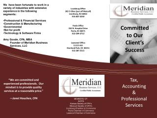 Tax,  Accounting & Professional Services