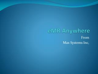 eMR  Anywhere