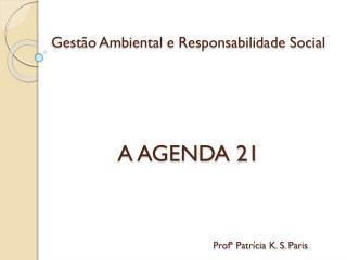 Gestão Ambiental e Responsabilidade Social A AGENDA 21