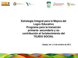 Estrategia Integral para la Mejora del Logro Educativo Programa para la transici n primaria- secundaria y su contribuci