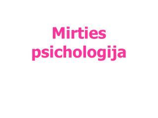 Mirties  psichologija