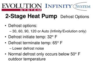2-Stage Heat Pump Defrost Options