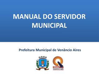 MANUAL DO SERVIDOR MUNICIPAL