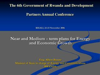 The 6th Government of Rwanda and Development Partners Annual Conference