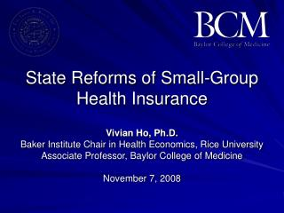 State Reforms of Small-Group Health Insurance