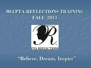 MCCPTA REFLECTIONS TRAINING FALL  2013