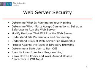 Web Server Security