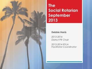 The  Social Rotarian September 2013